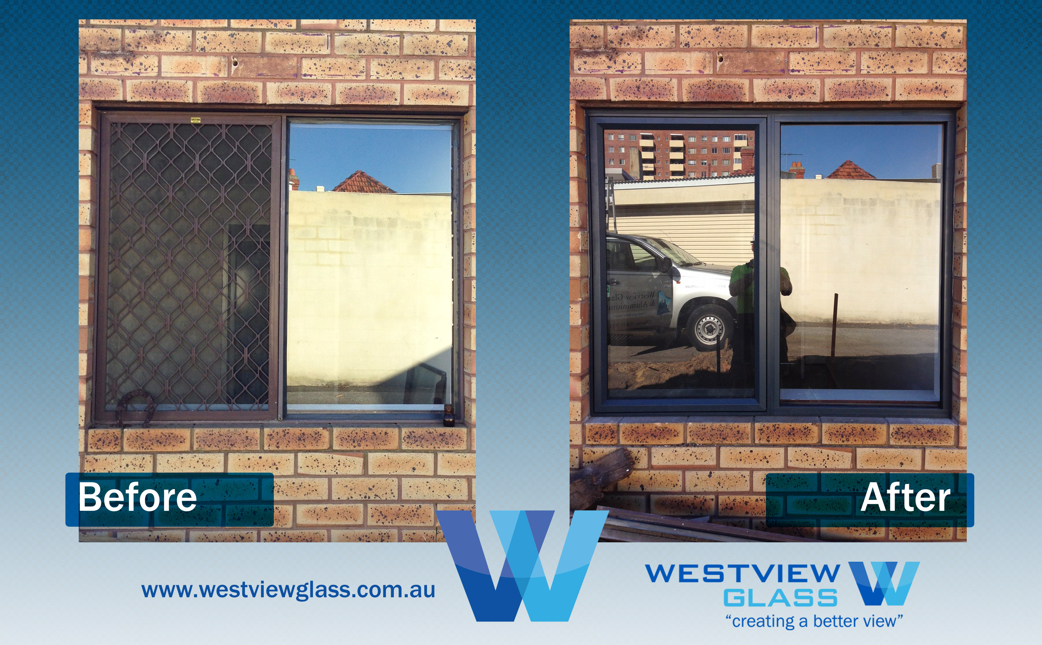 Awning Window Brown Slider with Dec Grille ADG AwnFix with Inviisgard Copy - Aluminium Window Gallery – Before & After
