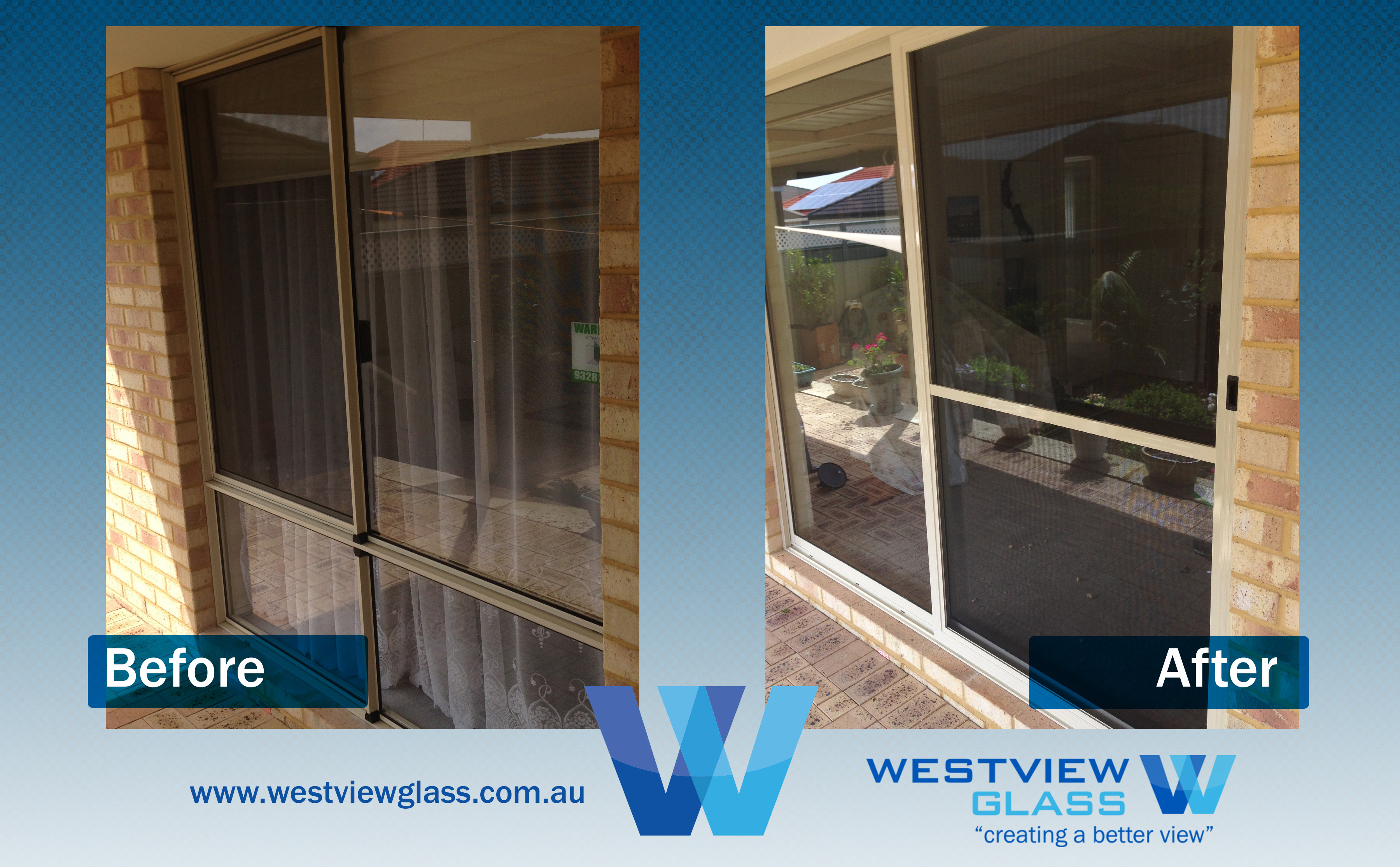 Sliding Door - 25c Window = Magnolia Sliding Door with Fly Door - Sliding Door Installation Perth