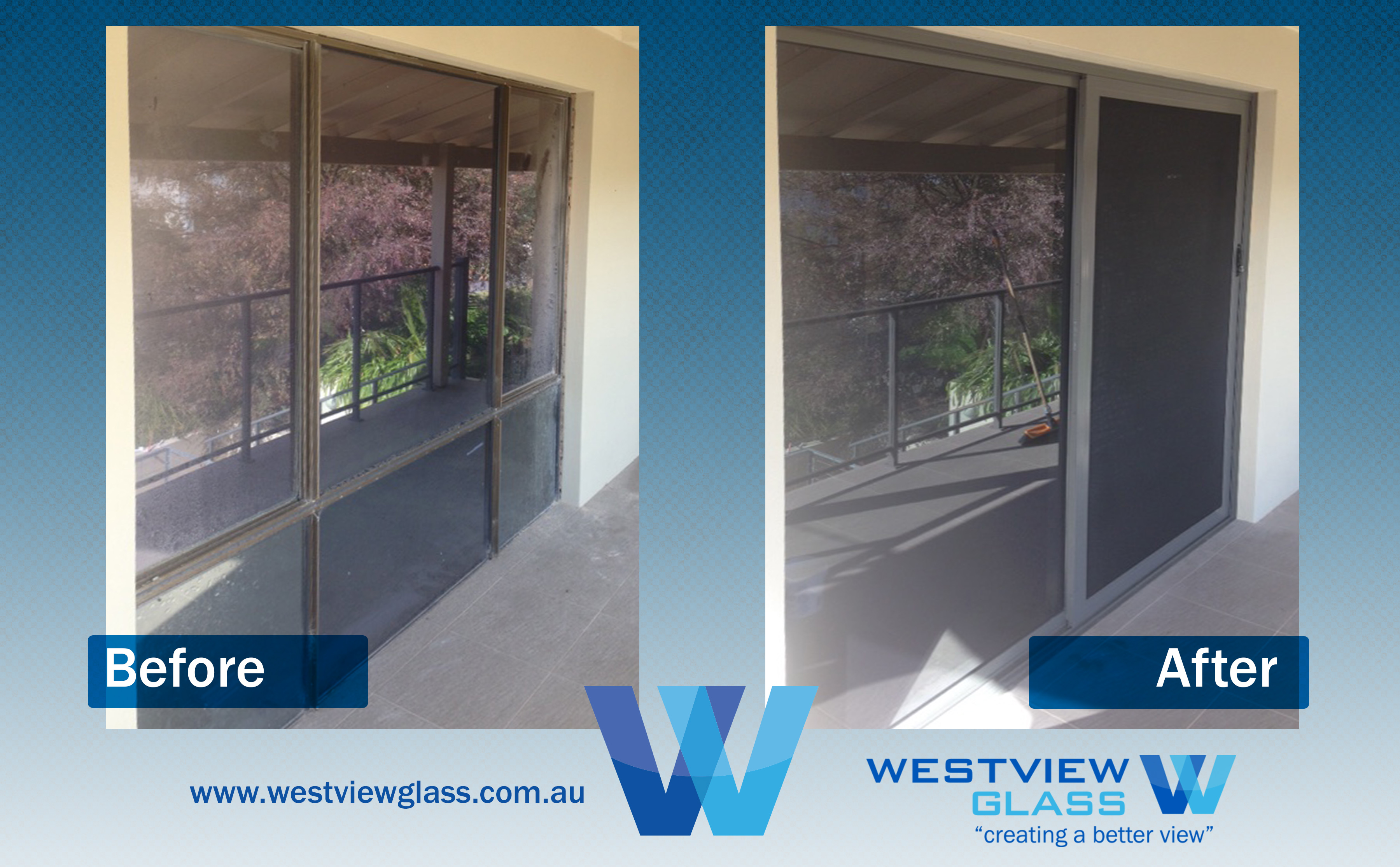 Sliding Door - 6lite Window Bronze = 2lite Sliding Door with Invisigard ANM - Sliding Door Installation Perth