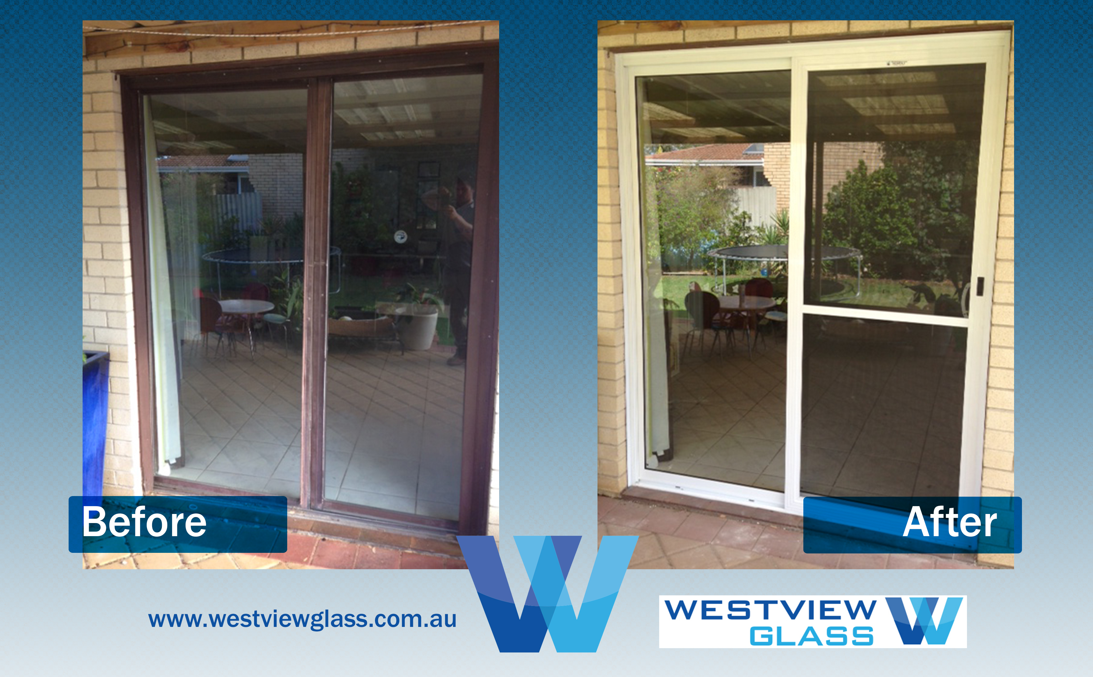 Sliding Door Brown Magnolia with Flydoor - Aluminium Door Gallery – Before & After