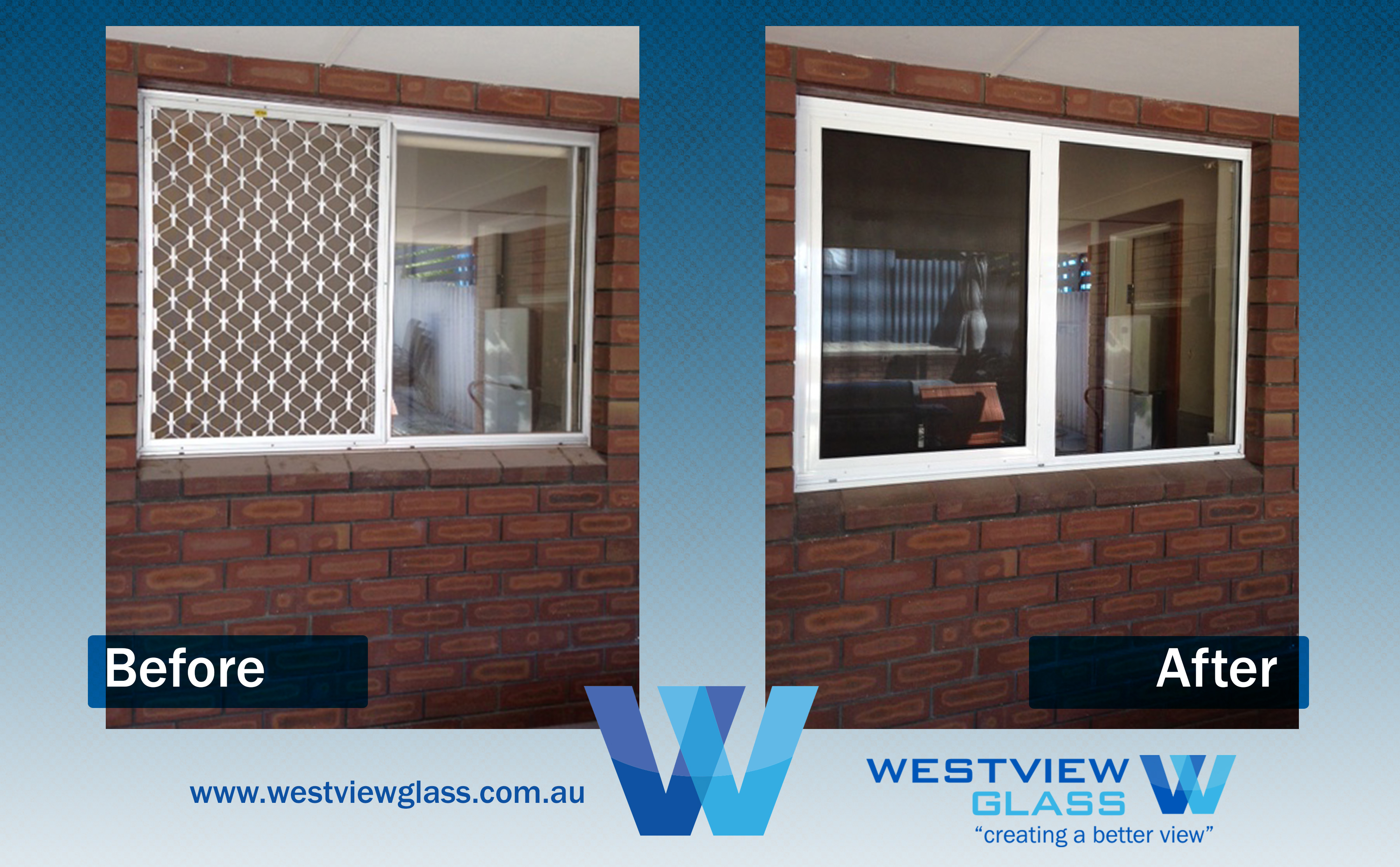 Sliding Window Clear Ano with Dec Grille White with Invisigard - Aluminium Window Gallery – Before & After